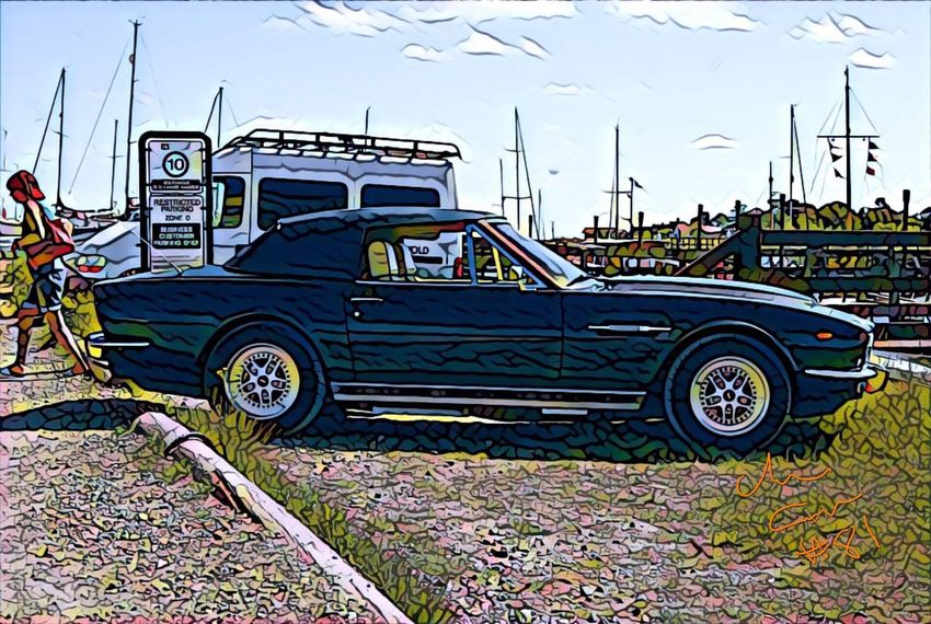 Http://c-m-m-cphotography.weebly.com Southwold Nature Aston Martin Harbour Inn Clasic Cars Transportation Dock Of The Bay River