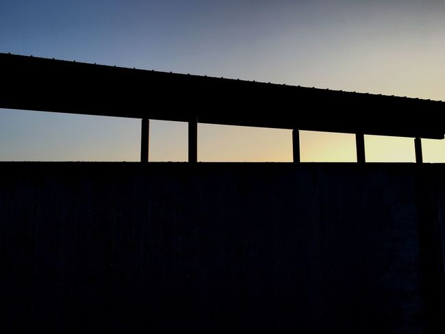 IPhoneography Built Structure Silhouette Architecture No People Sunset Clear Sky Sky Day Indoors  Nature Iphonephotography