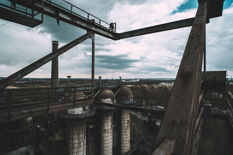 Landschaftspark Industrial Architecture Building Exterior Built Structure Business Cloud - Sky Container Day Factory Fuel And Power Generation Industrial Building  Industrial Equipment Industry Machinery Metal Nature No People Outdoors Pipe - Tube Sky Transportation