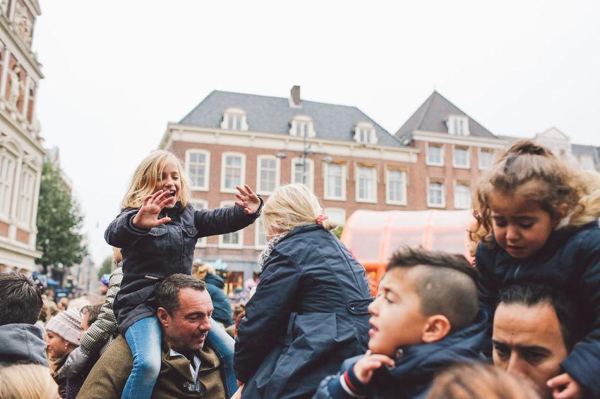 Carrying Children Festival Festival Season Grote Markt Happiness Netherlands Parents Playing Saint Nicholas Sint-Nicolaas Sinterklaas Zwarte Piet Enjoy The New Normal