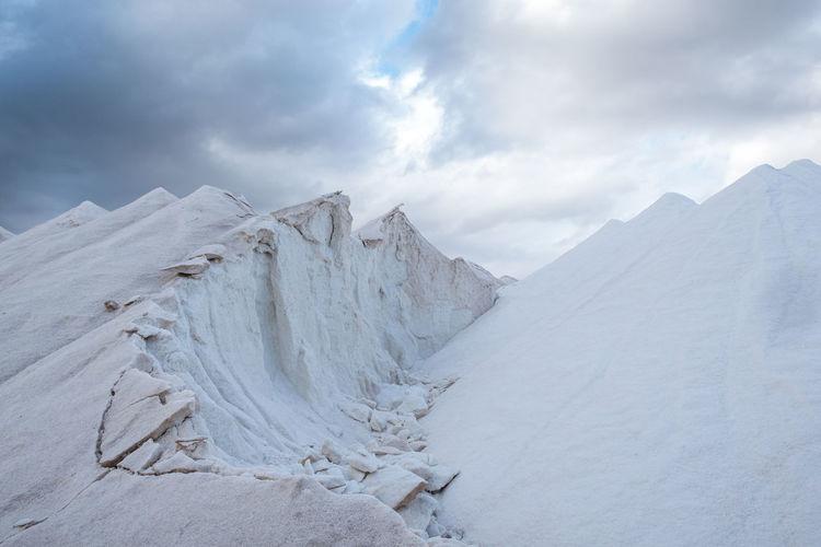 White salt mountains at majorca