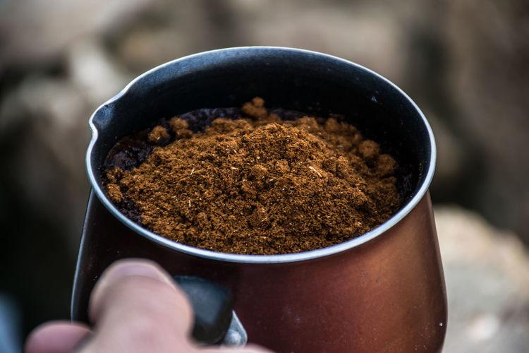 Arabic Coffee Close-up Food Ground Coffee Freshness Coffee Black Coffee Arabic Coffee
