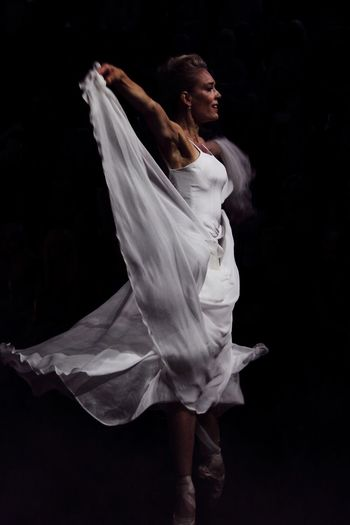 The Swan Joutsen Helsinki Runway Dance Fashion Performance Fashion Stories Black Background Dancing Adult Arts Culture And Entertainment Dancer One Woman Only Ballet Ballet Dancer