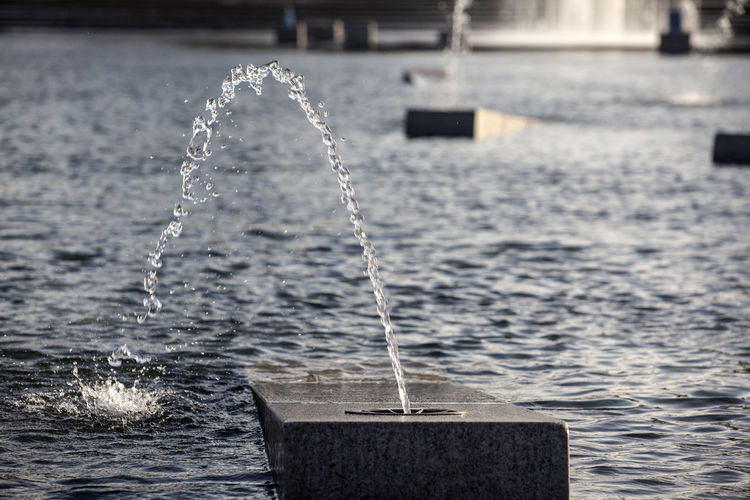 Close-up of fountain in park