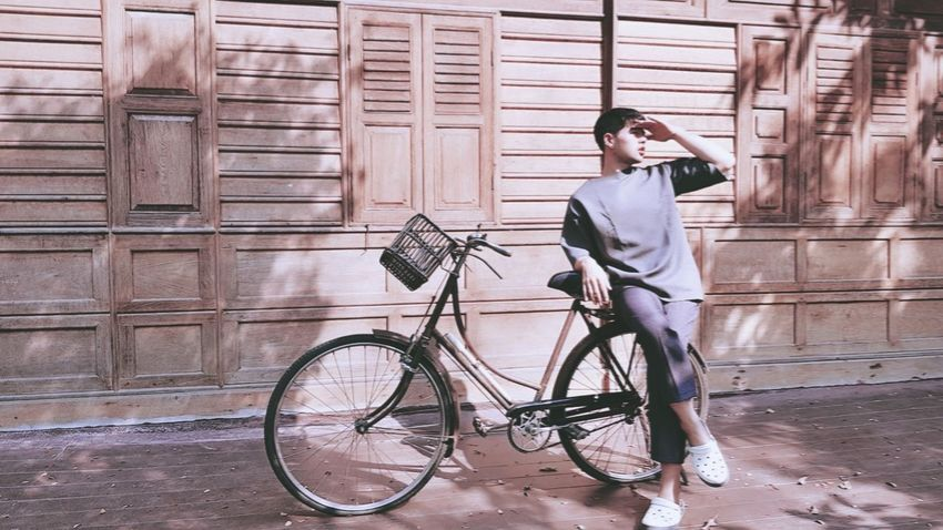 #bicycle City Standing Men Portrait Full Length City Life Cycling First Eyeem Photo