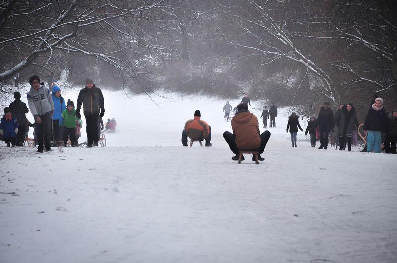 Berlin Cold Days Fun White Winter