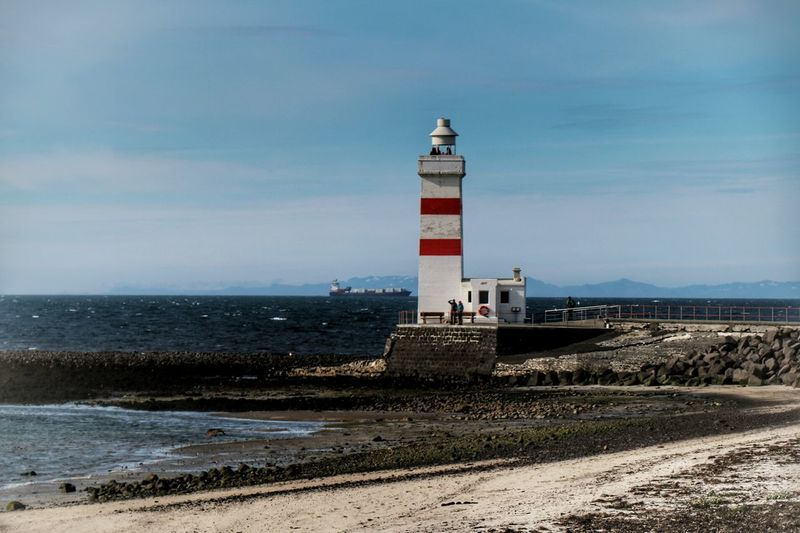 Lighthouse Garðskagaviti Landscape #Nature #photography Sea_collection Beauty In Ordinary Things Oldlighthouse Seaside Sea Beautiful Day