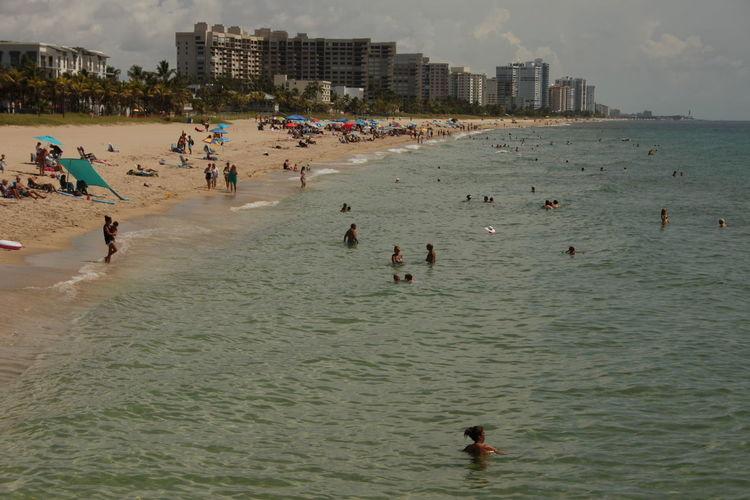 EyeEmNewHere Beach Florida Outdoors People Sea Summer Water Real People