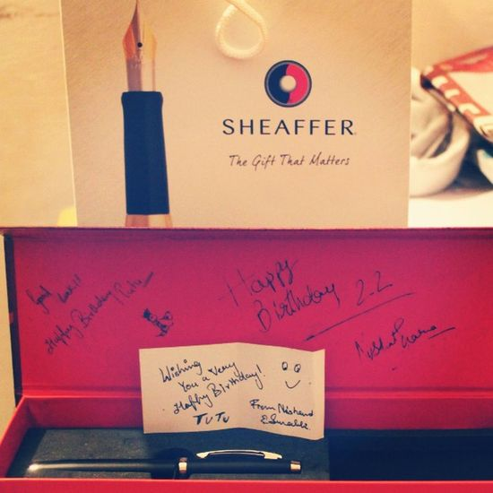 Thank You @surabhi23j & @nishantsharma9225 ? Birthdaygift Williampenn Sheaffer Pen YaY