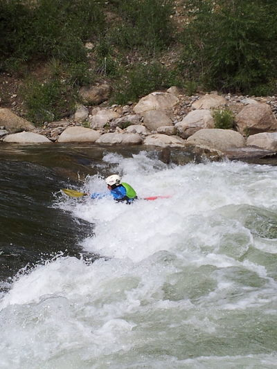 Kayaker practicing in the rapids Canoeing Rapids Canoe Paddling River Collection Kayak Kayaking Kayaking In Nature Rapid Stream Taking Photos Taking Pictures Color Eye4photography  Editorial  Colors Beauty In Nature Riverside Scenic View River Full Frame Sports Kayaks