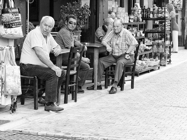 Reservoir Dogs ^-^ Greek People Coffee Shop Greece Streetphotography Fujifilmx10 Fujix10 Bw Kaigara