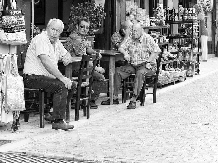Reservoir Dogs ^-^ Greek People Coffee Shop Greece Streetphotography Fujifilmx10 Fujix10 Bw Kaigara