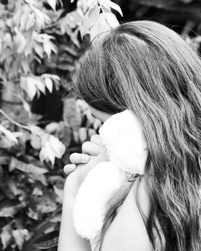 Hidden emotions Portrait Photography Portraits Teddybearpicnic Girls Old-fashioned Colour Portrait EyeEm Best Shots Old Fashion Style Blackandwhite Blackandwhite Photography Black & White Black And White Collection