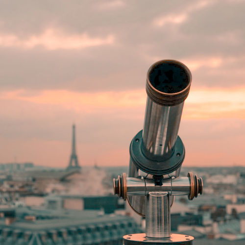 Looking for..... Galeries Lafayette La Tour Eiffel Paris ❤ Paris, France  Sunset_collection Terrace Tour Eiffel Architecture Building Exterior Built Structure City Cityscape Close-up Cloud - Sky Coin-operated Binoculars Day Nature No People Outdoors Sky Sunset Tourism Tourism Destination Stories From The City The Traveler - 2018 EyeEm Awards My Best Travel Photo