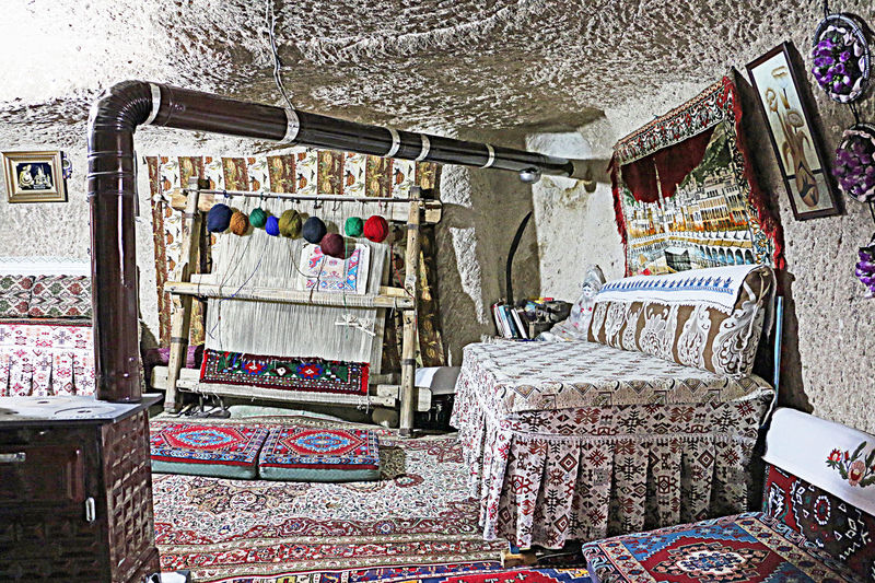 Cappadociaturkey Environments House Into Rock Indoor Multi Colored Old Place Tradiional Home Travel Destinations Turkish Historical House