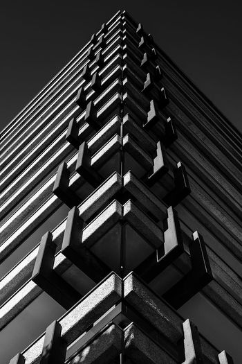 office building Hamburg Architectural Feature Architecture Blackandwhite Bnw_architecture Building Building Exterior Built Structure Citynord Clear Sky Close-up Day Design Directly Below Edges In A Row Light And Shadow Low Angle View Metal Nature No People Outdoors Pattern Repetition Roof Sky Wood - Material
