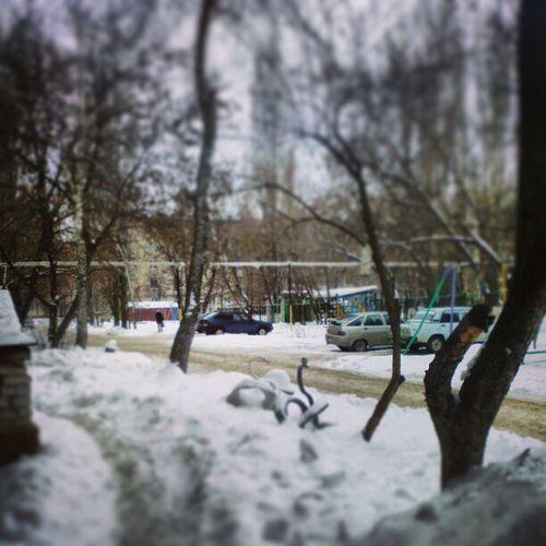 двор зима Машины улица