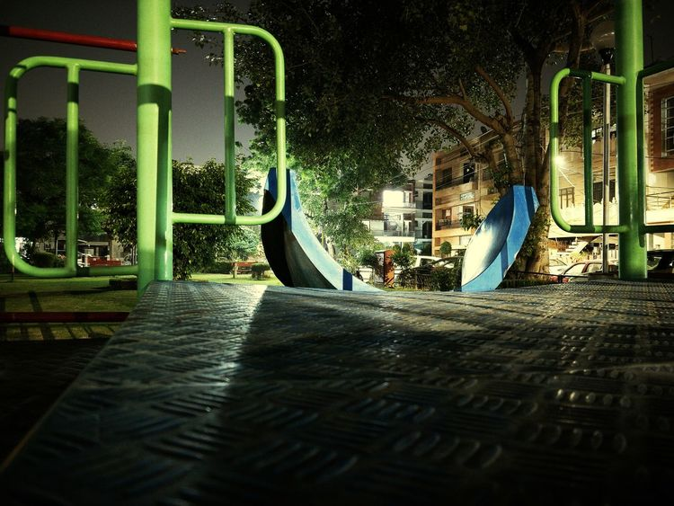 Playground Outdoor Play Equipment Built Structure Architecture Fun Childhood No People Night Outdoors Slowshutter