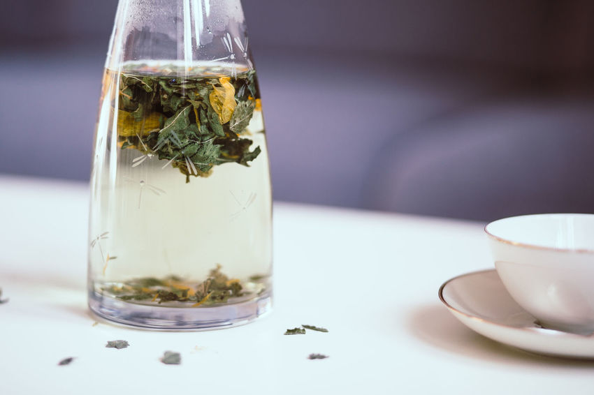 Close-up Day Drink Fasting Focus On Foreground Freshness Healthy Lifestyle Herbal Tea Leaves No People Organic Refreshment Table Tea - Hot Drink