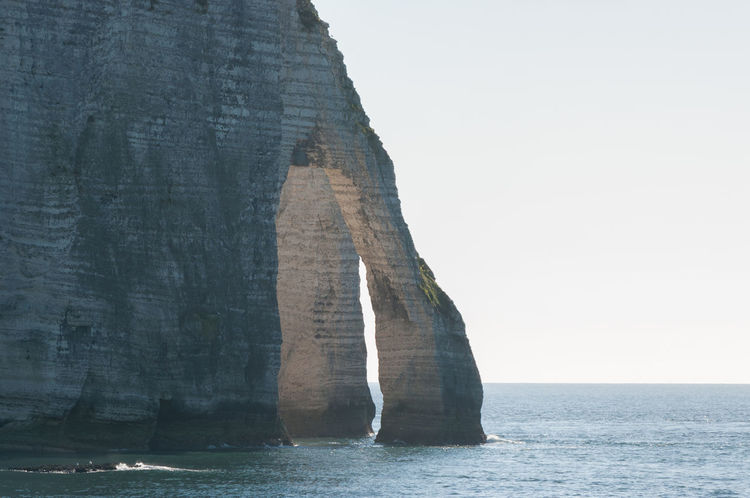 etretat Water Rock Formation Rock Rock - Object Solid Sea Scenics - Nature Nature Beauty In Nature Day No People Tranquil Scene Waterfront Sky Tranquility Cliff Outdoors Horizon Over Water Clear Sky Eroded Stack Rock