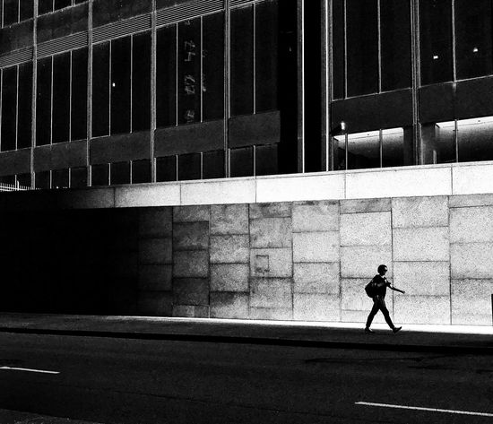 Chicago Streetphotography Blackandwhite One Person Walking Shadow City