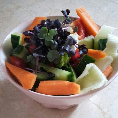 Kleiner Snack :) Karotten Gurken Fenchel Paprika Kresse Food Foodlover Foodpic Vegetables