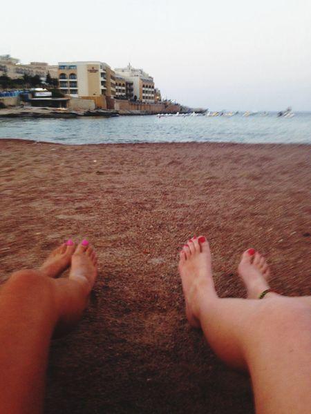 Valetta Malta Playa Feet