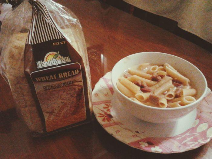 sopas and wheat bread... TamangMiryendaLang Miryendaoverload