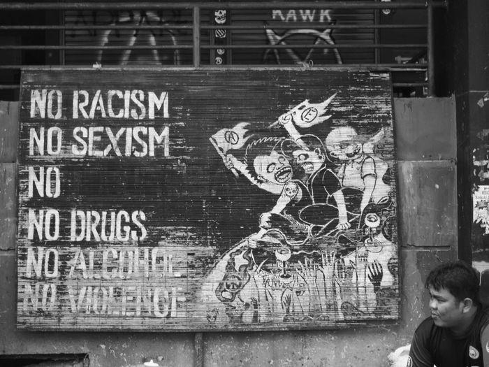 #blackandwhite #blackandwhite #bnw #monochrome #TagsForLikes #instablackandwhite #monoart #insta_bw #bnw_society #bw_lover #bw_photooftheday #photooftheday #bw #instagood #bw_society #bw_crew #bwwednesday #insta_pick_bw #bwstyles_gf #irox_bw #igersbnw #bwstyleoftheday # #humaninterest #monocrom #noracism #people #Streetart #streetphotography One Person People Text