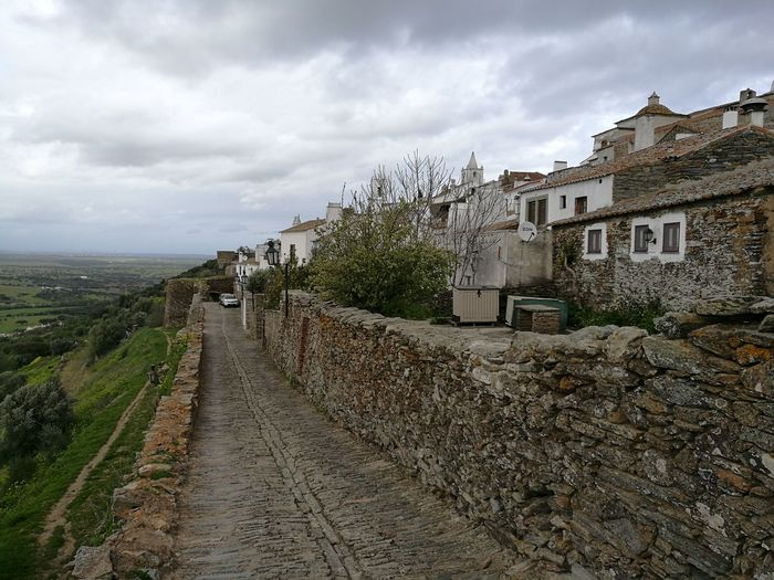 Castle Monsaraz Rural Scene House Sky Building Exterior Cloud - Sky Architecture Settlement Village Medieval Fortress