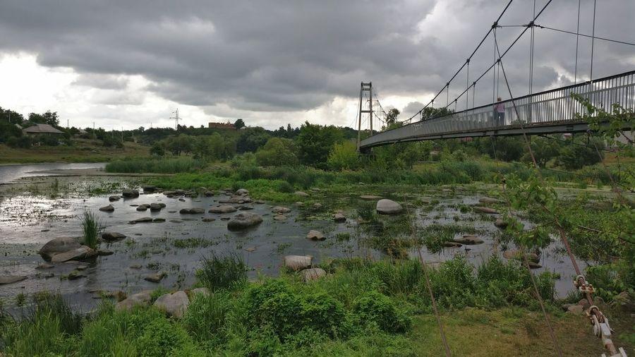Ukraine 💙💛 Bridge - Man Made Structure Sky Landscape Ros River Bohuslav