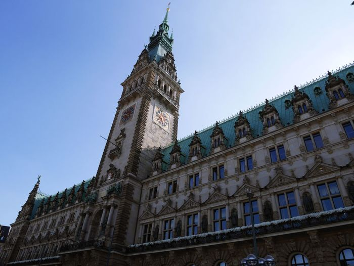 Architecture Blue Building Building Exterior Built Structure City Clear Sky Clock Tower Day Gothic Style History Low Angle View Nature No People Old Outdoors Sky Spire  The Past Tourism Tower Travel Destinations Window