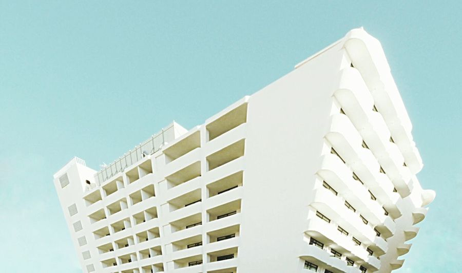 Abstract Photography Architecture Built StructureMinimalist Composition Building Exterior clear sky Sky Outdoors Residential Building Day Whitewashed Low Angle View No People Clear Sky Deformation