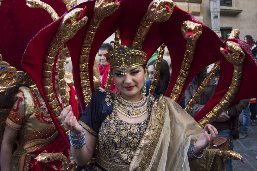 Carnival 2016 Valletta, Malta Animal Representation Art Art And Craft Carnival Carving - Craft Product Colors Colors Of Carnival Costume Creativity Cultures Front View Human Representation India Joy Tradition Women Around The World