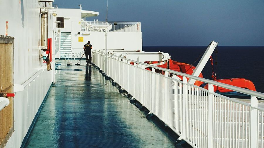 Cleaning Up! Dirty Floor Hard Work Keep It Clean Ferry Views Welcome On Board The Life On Board Cleaning Crew Staff Member One Person everywhere Water All About Water Reflections Refreshment