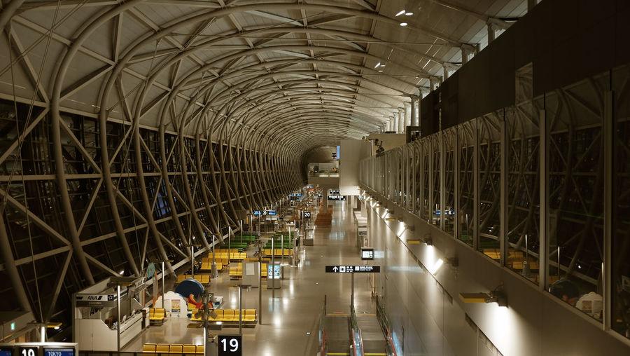 OSAKA Airport Architecture Built Structure Ceiling Day Empty Fuji Fujifilm Fujifilm_xseries Illuminated Indoors  Landside Night No People Nuit X100t
