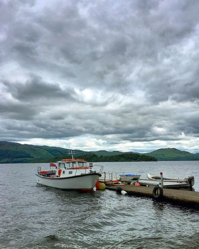Cloud - Sky Nautical Vessel Mode Of Transport Sky Weather Water Nature Day No People Outdoors Beauty In Nature Sea Scenics Mountain Scotland Luss Loch Lomond Travel Travel Destinations Travel Photography Lake