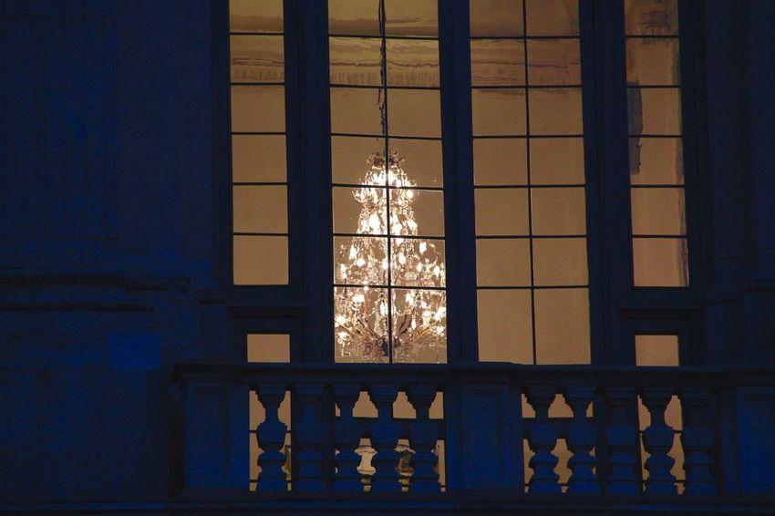 Light Through The Window Architecture Chandelier Goldlight Illuminated Light No People Warmlight Window