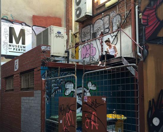 taking a break Graffiti Art IPS2016People Urban