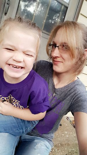 Bonding Casual Clothing Family Football Front View Homecoming Homecoming 2016 Looking At Camera Love Mother Daughter  Person Portrait Preschool Preschooler School School Pride Smiling Togetherness Webster City Webster City Iowa Webster City Lynx Young Adult