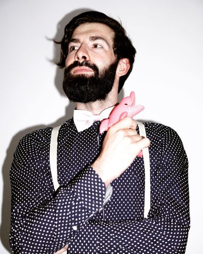 The Name is Doetsch, Stephan Doetsch Beard Mustache Mid Adult One Person Studio Shot Fun Portrait Bow Tie White Background Men One Man Only Human Hand Young Adult Only Men Adult Adults Only Fashion Dolphin Water Gun Real Photography Happiness Happy People Lifestyles Portrait Photography Faces Of EyeEm