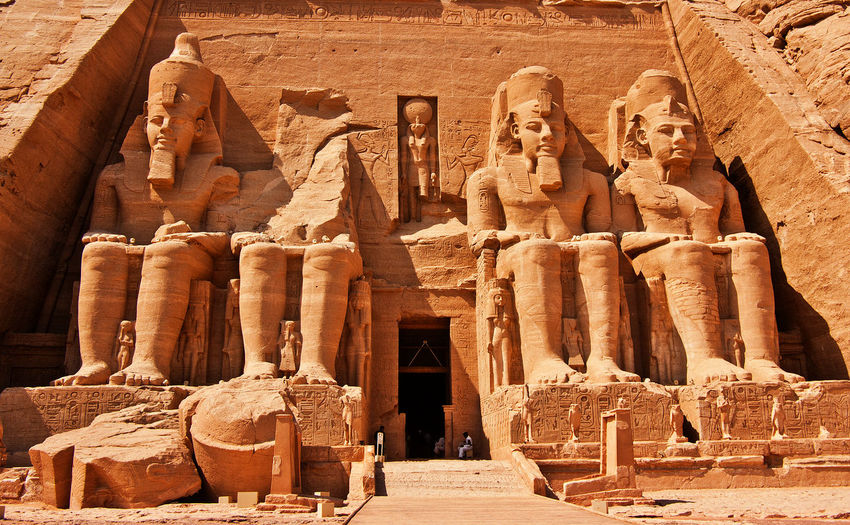 Abu Simbel Temples Egypt Pharaoh - Ancient Egypt Ramses II UNESCO World Heritage Site World Heritage Africa Ancient Ancient Civilization Archaeology Architecture Built Structure History Old Ruin Place Of Worship Religion Sculpture Spirituality Statue Tourism Travel Travel Destinations