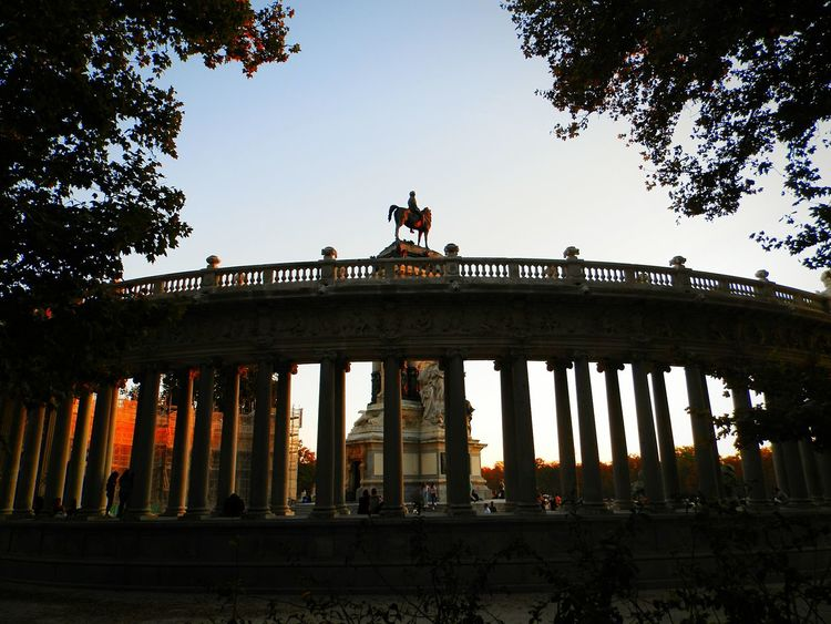 Illuminated Tourism Architecture Sky No People NatureRetiropark Madrid Spain Sunset Scenics Silhouette