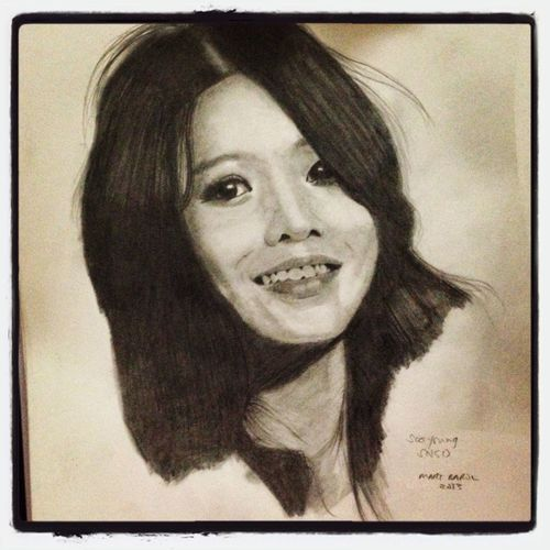 Sooyoung SNSD GirlsGeneration Sketch