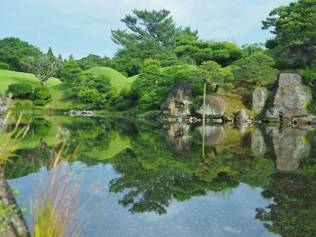 こちらは水量も戻り、本来の姿を見せてくれてます 水前寺成趣園 熊本 Kumamoto