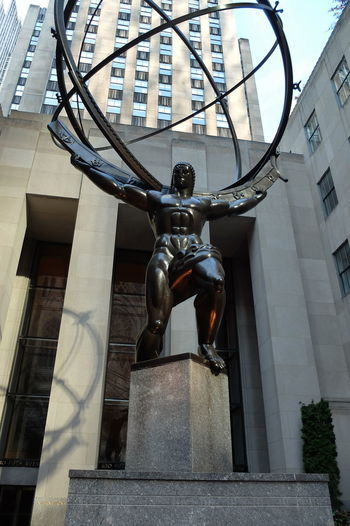 RC03 Architectural Column Architecture Building Exterior Built Structure City Day No People Outdoors Rockefeller Center Rockefeller Center, New York Sculpture Statue