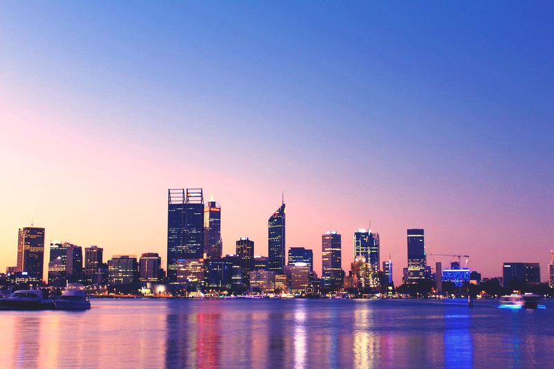 No place as beautiful as the Great'ol Perth Building Exterior Sky Architecture Built Structure City Building Water Urban Skyline Waterfront First Eyeem Photo