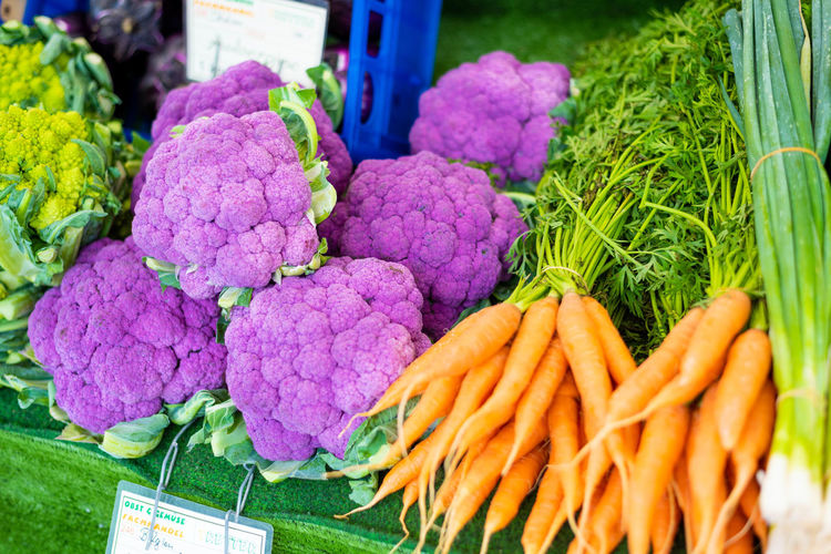 Abundance Carrot Cauliflower Choice Close-up Common Beet Farmer's Market Food Food And Drink For Sale Freshness Healthy Eating Large Group Of Objects Market Market Stall No People Organic Purple Retail  Retail Display Root Vegetable Sale Variation Vegetable Wellbeing