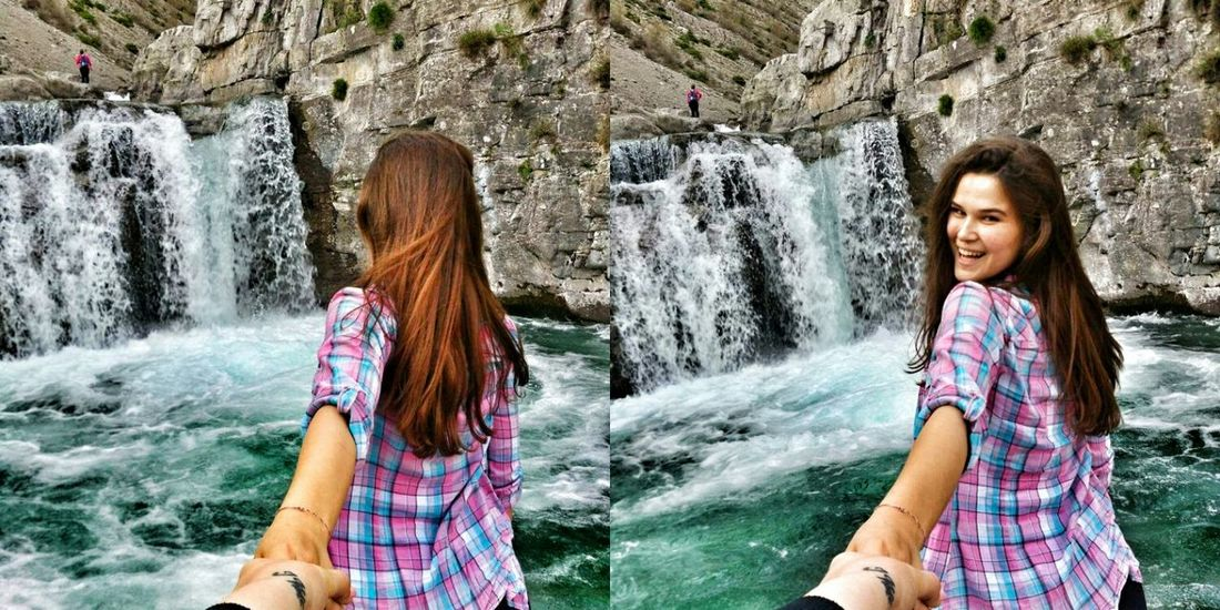 Albania Albanian View Lovelynatureshots Woman Power Nature_collection Visitalbania Waterfall Girl Back Lovely Place Nature Photography Summer Views North Flowing Water Falling Water Rock Formation Hot Spring Cliff Water Park Flowing Rocky Mountains Natural Arch Natural Landmark