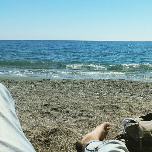 On The Beach Starting Summer Sunny Day Nice Moments